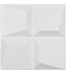 "EM-WP20X20TEWH - 19 5/8""W x 19 5/8""H Tellson EnduraWall Decorative 3D Wall Panel, White"