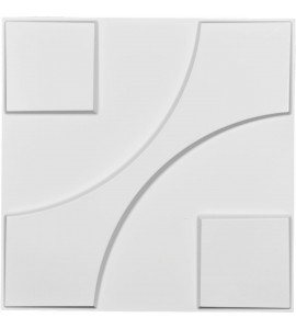 "EM-WP20X20NEWH - 19 5/8""W x 19 5/8""H Nestor EnduraWall Decorative 3D Wall Panel, White"