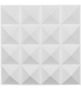 "EM-WP20X20CNWH - 19 5/8""W x 19 5/8""H Cornelia EnduraWall Decorative 3D Wall Panel, White"