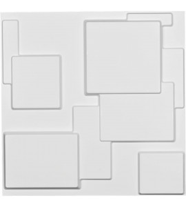 "EM-WP20X20GOWH - 19 5/8""W x 19 5/8""H Gomez EnduraWall Decorative 3D Wall Panel, White"