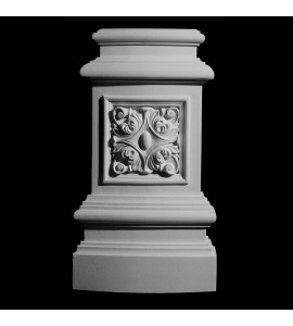 BASE-123R Series Profile Resin Columns Base with Acanthus Leaf Rosette