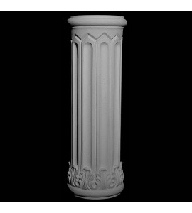 BASE-125-EXT-TC Series Acanthus Leaf and Fluted Resin Columns Base