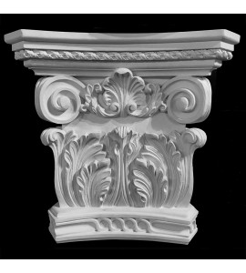 CAP-104 Acanthus Leaf Capitol with Celtic Ring