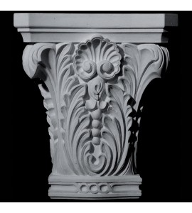 CAP-145 Series Acanthus Leaf and Shell Resin Capitol