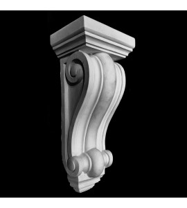 CB-108 Smooth Profile Concave and Convex Ridges Resin Corbel