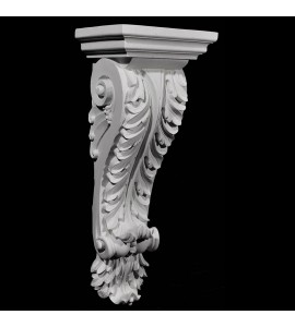 CB-120 Series Acanthus Leaf with Beads and Leaf On Bottom Resin Corbel