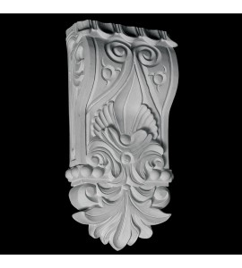 CB-102 Acanthus Leaf Petals and Beads Resin Corbel