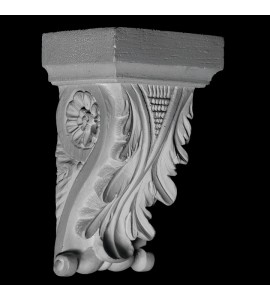 CB-103 Series Acanthus Leaf and Floral Resin Corbel