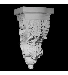 CB-110A Acanthus Leaf and Beads with Rounded Ribbed Bottom Resin Corbel