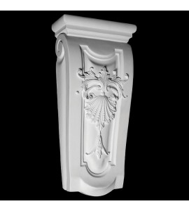 CB-160 Classical Shell and Beads Resin Corbel