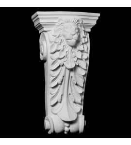 CB-220 Series Acanthus Leaf withBeads and Lion Face Resin Corbel