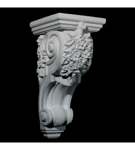 CB-309 Series Floral Cluster on Smooth Profile Resin Corbel