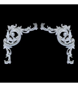 CE-108A-EXT Acanthus Leaf Resin Corner Element