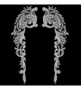 CE-103 Acanthus Leaf and Floral Scroll Resin Corner Element