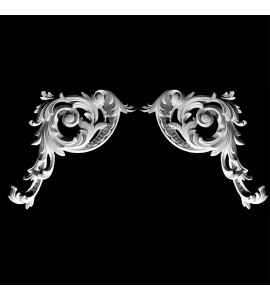 CE-108A Acanthus Leaf and Scroll Resin Corner Element