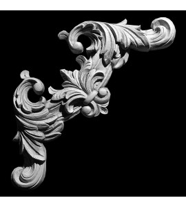 CE-129 Acanthus Leaf and Crest Resin Corner Element