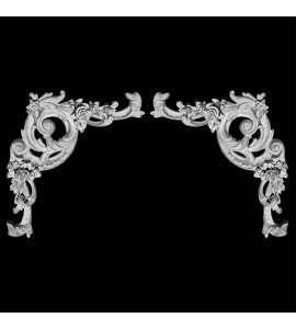 CE-160A-EXT Acanthus Leaf Resin Corner Element