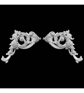 CE-160A Acanthus Leaf and Scroll Resin Corner Element
