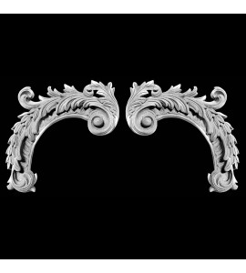 CE-307 Acanthus Leaf Resin Corner Element
