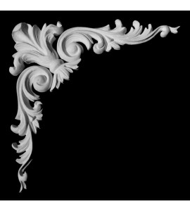 CE-131 Series Acanthus Leaf Crest and Scrolls Resin Corner Element