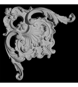 CE-136 Acanthus Leaf and Scrolls Resin Corner Element