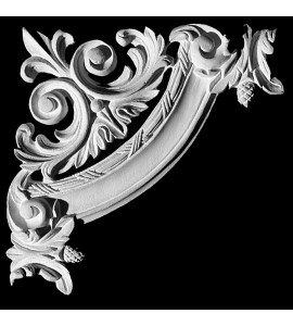 CE-138 Series Fleur De Lis Acanthus Leaf Resin Corner Element