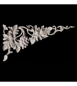 CE-151-3 Series Grapes and Acanthus Leaf Resin Corner Element
