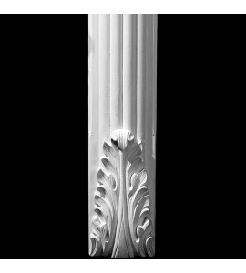 COLM-109 Series Acanthus Leaf Radius Front Convex Fluted Resin Column