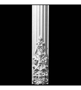 COLM-112 Series Carved Onlay Radius Front Convex Fluted Resin Column