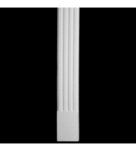 COLM-113 Series Flat Front Concave Fluted Resin Column