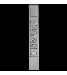 COLM-131B-1 Series Craftsman Style Resin Column With Acanthus Leaf Vase Pattern Onlay