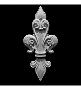 CP-135 Fleur De Lis Shield Center Piece Flexible Resin