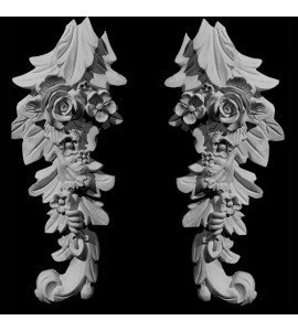 CP-136-EXT Versailles Acanthus Leaf Floral Drop Resin Centerpiece