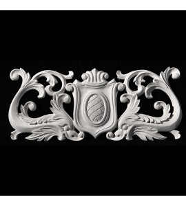 CP-191A Shield with Acanthus Leaf and Serpents Resin Centerpiece