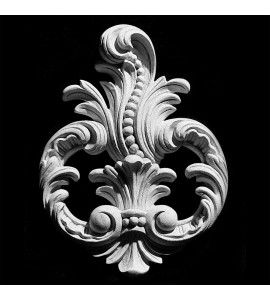 CP-210 Series Acanthus Leaf Scrolls with Beads Resin Centerpiece