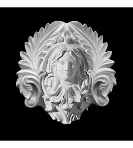 CP-213 Woman's Face and Acanthus Leaf Resin Center