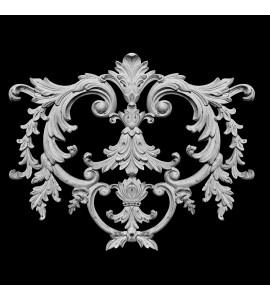 CP-218 Acanthus Leaf And Swag Resin Centerpiece