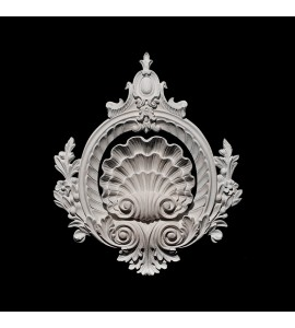 CP-112 Series Shells and Shield Acanthus Leaf Resin Centerpiece
