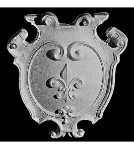 CP-141 Series Royal Charm Fleur De Lis  Shield Resin Centerpiece