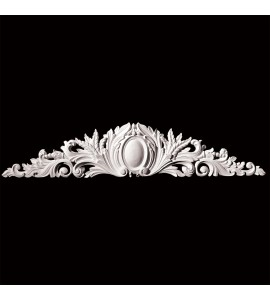 CT-104S Series Oval Shield Center with Acanthus Leaf Resin Cartouche