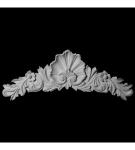 CT-108 Shell with Acanthus Leaf and Florets Resin Cartouche
