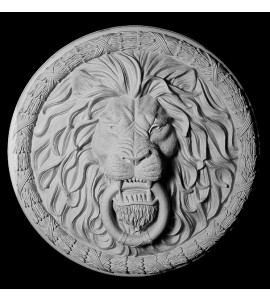 FACE-114 Series Resin Leaf and Berry with Ribbon Thick Lion Face with Knocker Ring