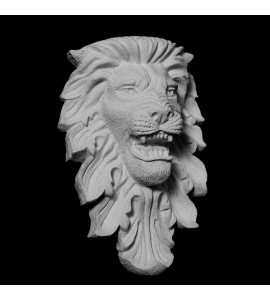 FACE-131 Resin Growling Lion Face