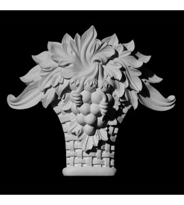 KS-104 Series Grapes and Acanthus Leaf In Woven Basket Resin Keystone