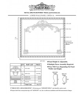 LWP024-1A Lower Wall Panel