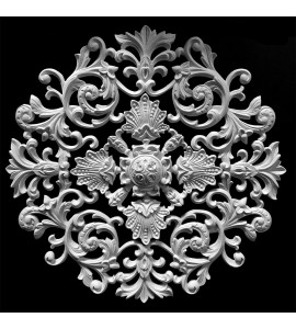 MD-101AA Series Acanthus Leaf Scrolls with Shells and Rosette Resin Medallion