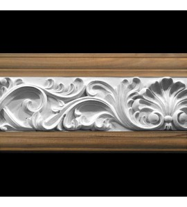 MLD-404D 4 Inch Width Shell and Acanthus Leaf Swag Resin Moulding