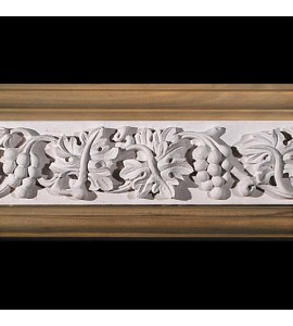 MLD-408E 8 Inch Width Grapes and Acanthus Leaf Resin Moulding