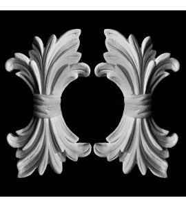 OL-103 Acanthus Leaf and Ribbon Resin Onlay