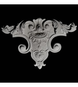 OL-118 Series Acanthus Leaf and Crest Resin Onlay